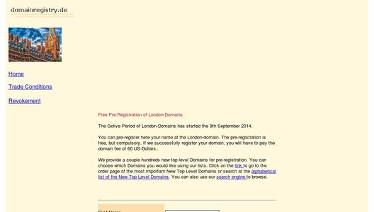 Registration of London-Domains