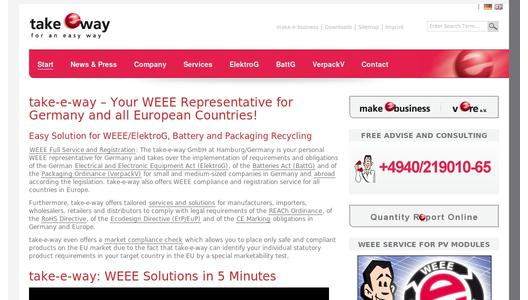 take-e-way Website