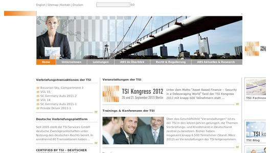"Weitere Infos zu ""SAVE THE DATE - TSI Kongress 2012 am 20. und 21. September 2012 in Berlin"""