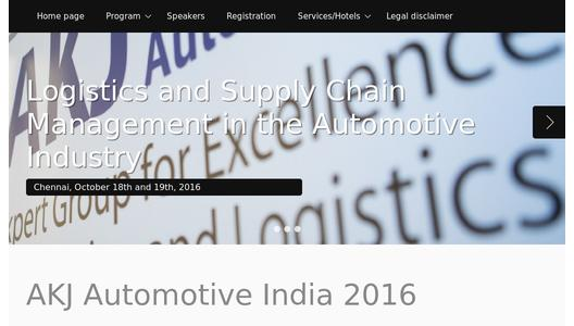Website Congress AKJ Automotive India 2016