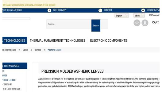 Selection Guide Aspheric Lenses