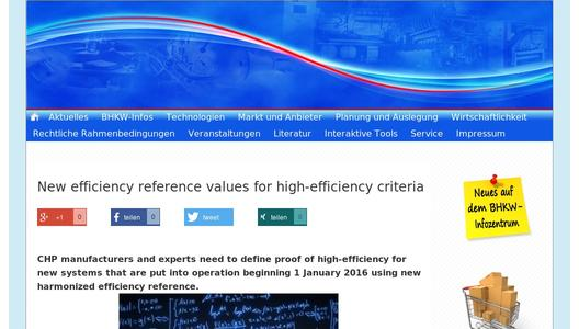 New efficiency reference values for high-efficiency criteria
