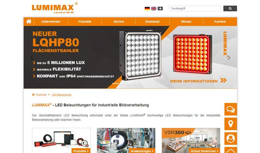 Website of the LUMIMAX® High Power Lights