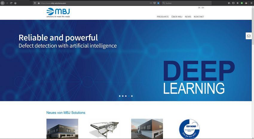 Homepage MBJ Solutions GmbH