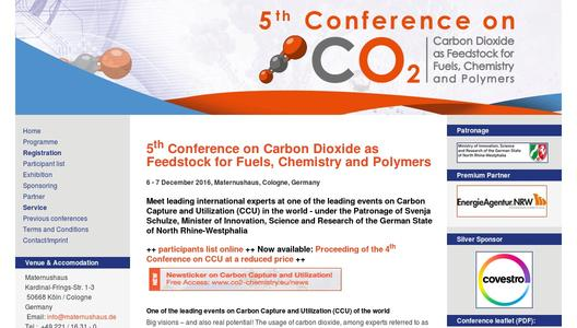 5th Conference on Carbon Dioxide as Feedstock for Fuels, Chemistry and Polymers