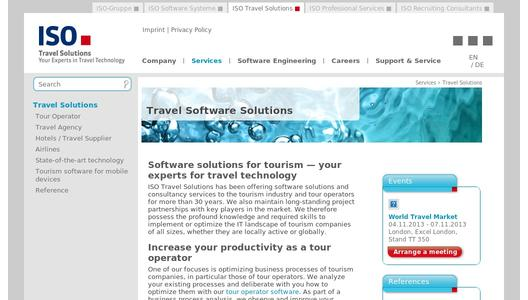 Website of ISO Travel Solutions