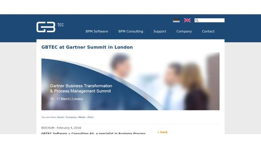 "Weitere Infos zu ""GBTEC at Gartner Summit in London"""