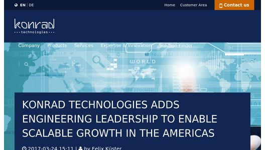 "Weitere Infos zu ""Konrad Technologies Adds Engineering Leadership To Enable Scalable Growth In The Americas"""