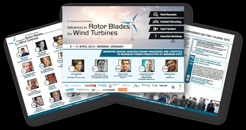 Rotor Blades for Wind Turbines International Conference - 2019 Agenda