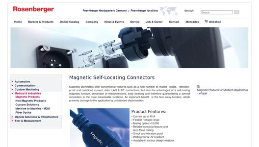 Magnetic Self-Locating Connectors