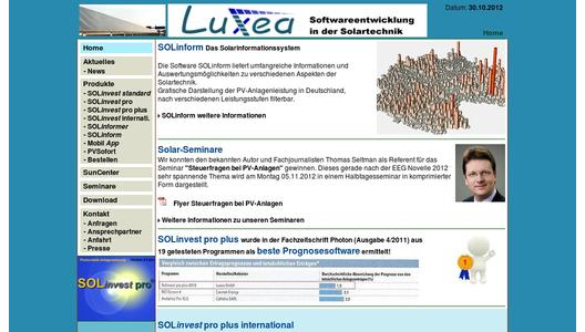 Luxea GmbH - Software in der Solartechnik