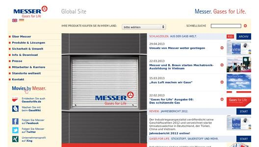 Homepage Messer Group GmbH