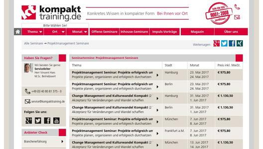 Projektmanagement-Seminare