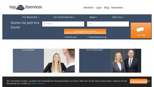 Webseite der top itservices AG