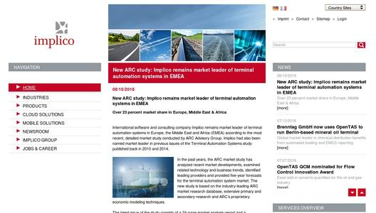 "Weitere Infos zu ""New ARC study: Implico remains market leader of terminal automation systems in EMEA"""