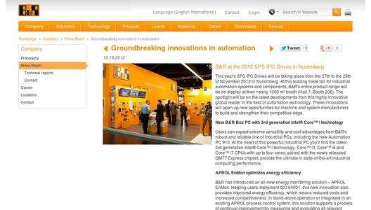 "Weitere Infos zu ""Groundbreaking innovations in automation"""