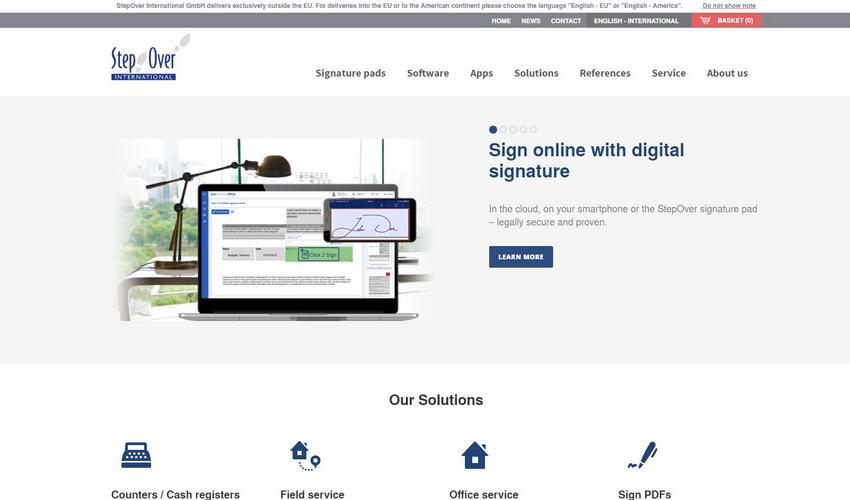 Sign online with digital signature