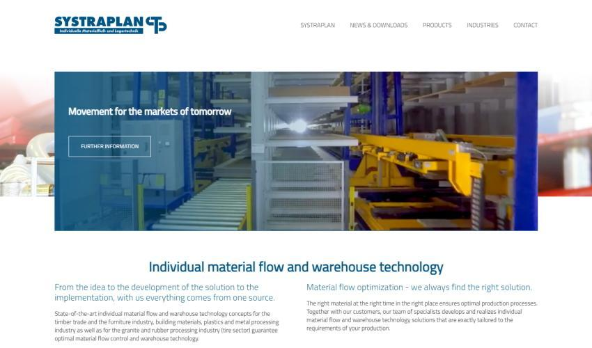 Individuel material flow and warehouse technology