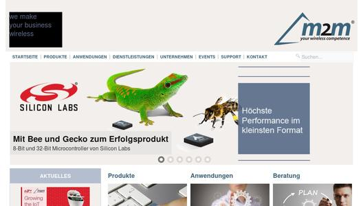 Homepage m2m Germany