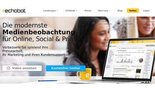 Website der Echobot Media Technologies GmbH