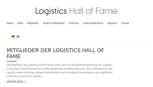"Weitere Infos zu ""Logistics Hall of Fame inducts 13 new members"""