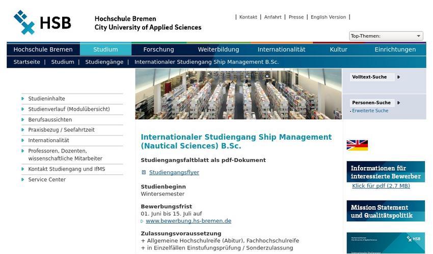 Hochschule Bremen Bewerbung Uber Campino