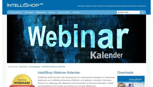 IntelliShop AG - Webinar-Kalender