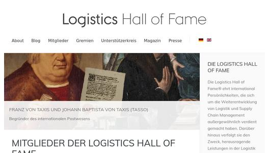 "Weitere Infos zu ""Finalists for Logistics Hall of Fame 2017 have been fixed"""