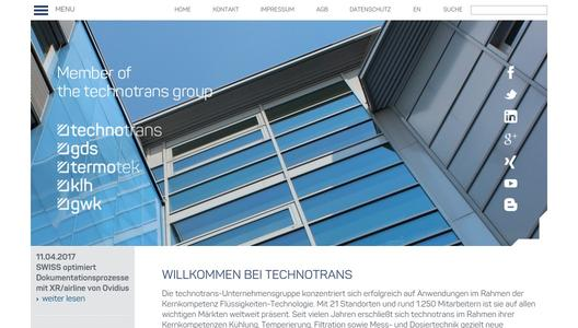 Homepage der technotrans AG