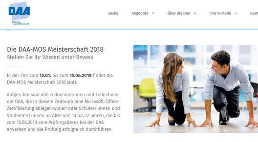 Mit einem Microsoft Office Zertifikat in die USA - DAA Deutsche ...