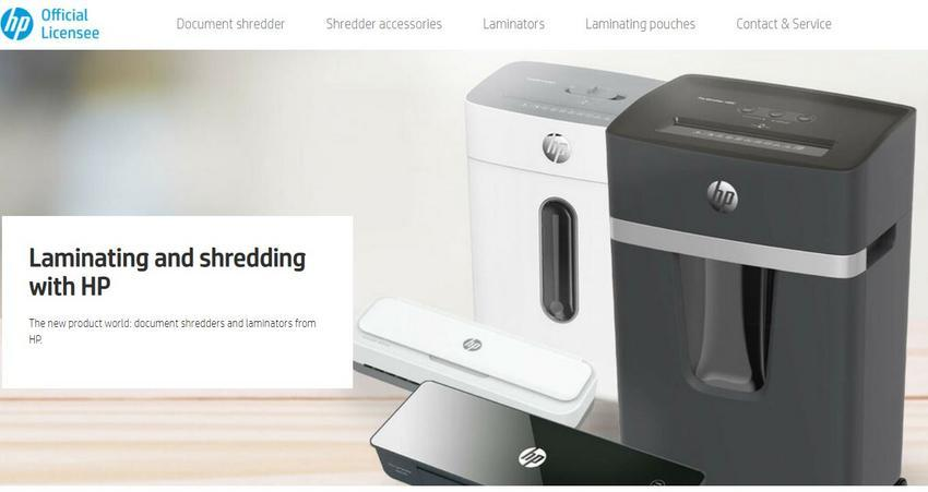 Screenshot of the new HP Office products website