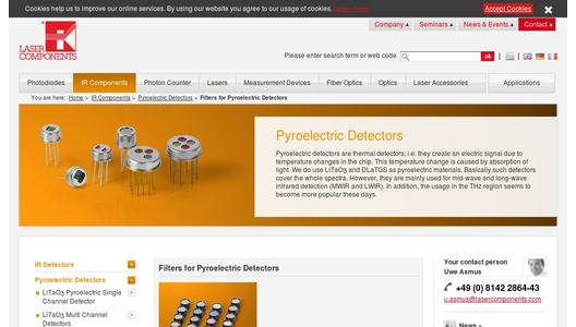"Weitere Infos zu ""Five New Bandpass Filters for Pyroelectric Detectors"""