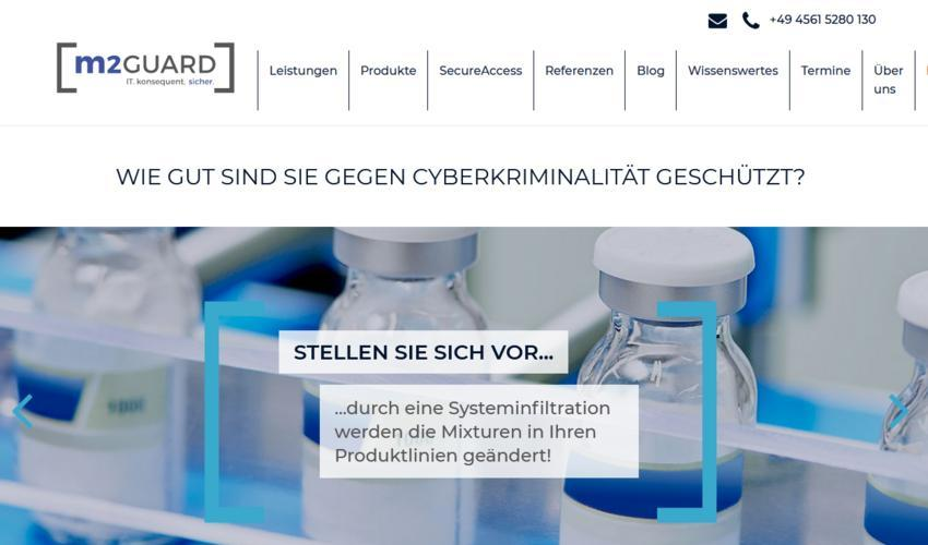 Website von m2guard
