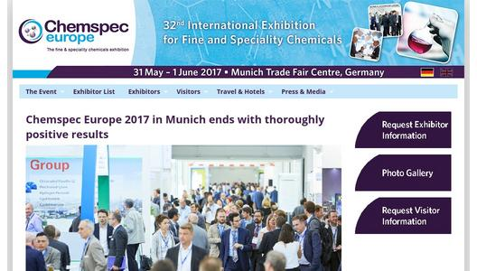 Chemspec Europe 2017 in Munich ends with thoroughly positive