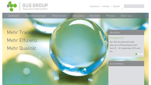 Webseite GUS Group