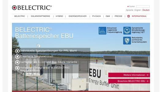 Webseite BELECTRIC