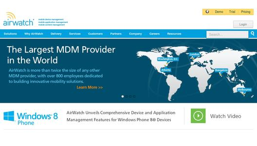 "Weitere Infos zu ""AirWatch Unveils Comprehensive Device and Application Management Features for Windows Phone 8 Devices"""
