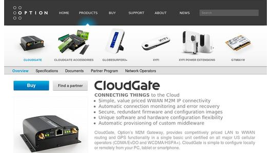 "Weitere Infos zu ""European M2M partners select Option's CloudGate for M2M solutions"""