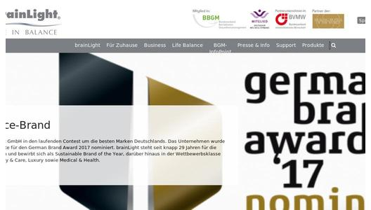 "Weitere Infos zu ""brainLight gewinnt den Wellness-Oscar der WELLNESS & SPA INNOVATION AWARDS 2017"""