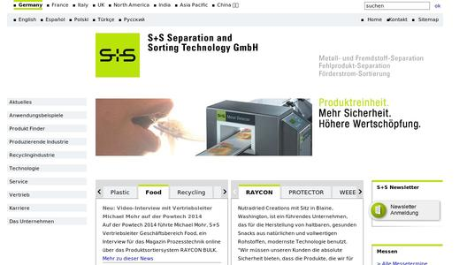 Zur Website der S+S Separation and Sorting Technology GmbH.