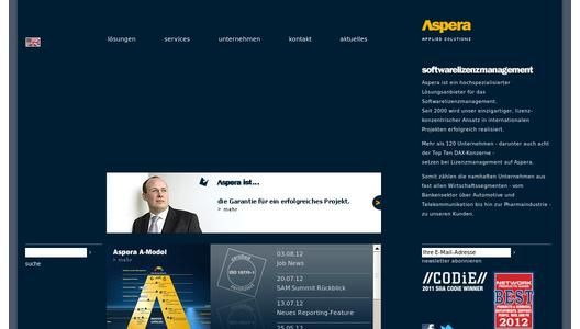 Aspera GmbH Website
