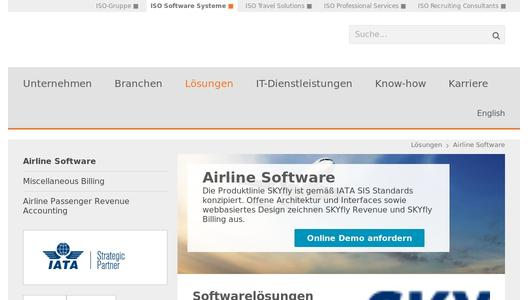 Airline Software von ISO Software Systeme
