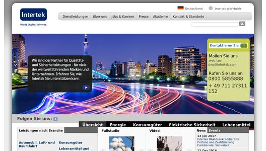 Intertek Homepage