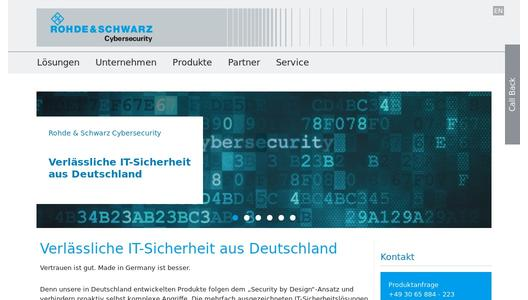 Rohde & Schwarz Cybersecurity Website