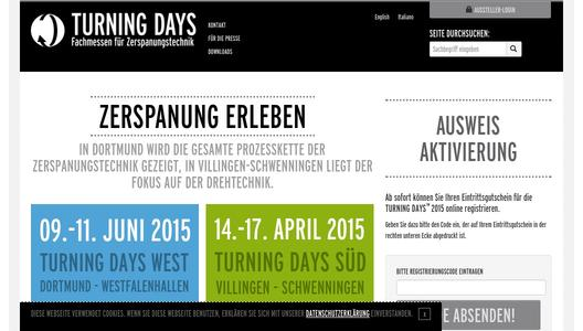 Website TURNNG DAYS Süd und West