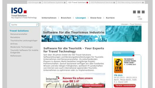 ISO Travel Solutions - Software für die Touristik