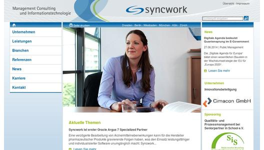 Website der Syncwork AG