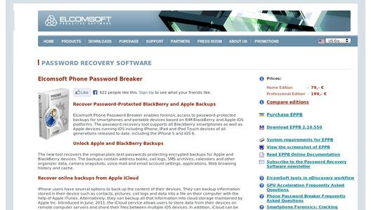 elcomsoft phone password breaker professional