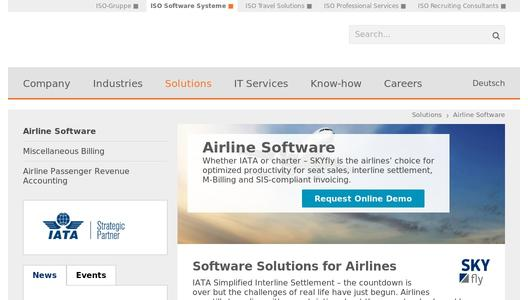 Airline Software by ISO Software Systeme