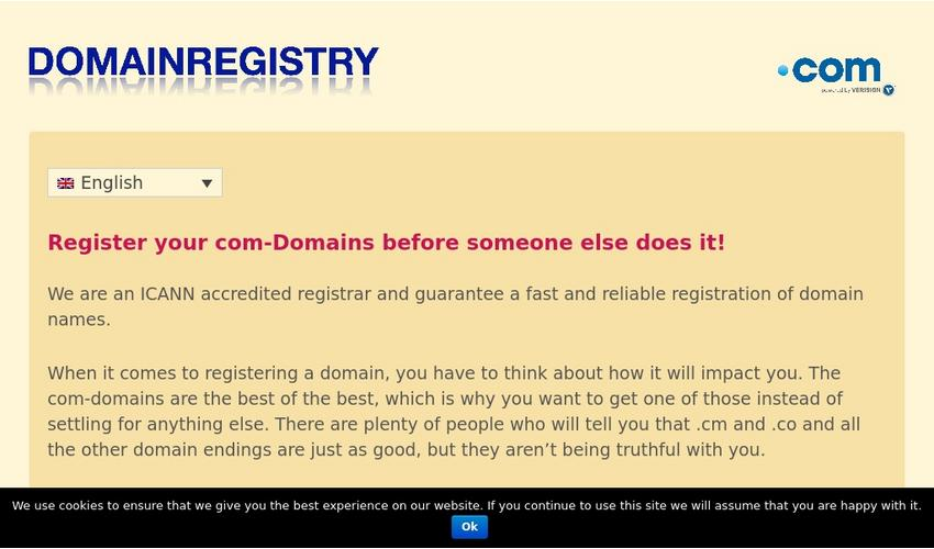 Millions of websites use .com domain names...